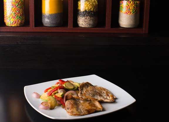 Grilovano povrće sa piletinom